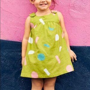 NEW Tea Jackfruit Hi-Lo Yoke Limeburst Dress